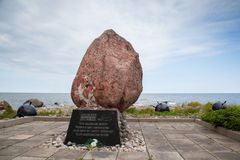 Pomnik przy przylądkiem Yuminda w Estonia obraz royalty free