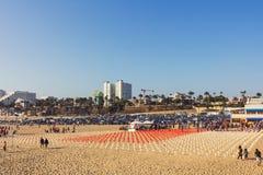 Pomnik przy Snata Monica plażą Zdjęcie Royalty Free