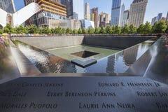 Pomnik przy world trade center punktem zerowym wybuchu Obrazy Stock