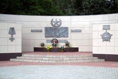 Pomnik spadać żołnierze Obrazy Royalty Free