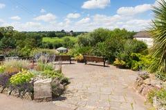 Pomnik uprawia ogródek Wye grodzki Herefordshire Anglia UK obraz stock