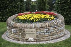 Pomnik w parku w targowym miasteczku Sandbach Anglia Fotografia Stock