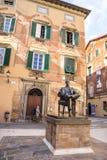 Pomnika dom Giacomo Puccini popularny przyciąganie w Lucca, Włochy Zdjęcia Royalty Free