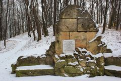 Pomnika kamień Franz Joseph Ja w Chernivtsi, Ukraina Obraz Stock
