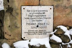 Pomnika kamień Franz Joseph Ja w Chernivtsi, Ukraina Zdjęcia Stock