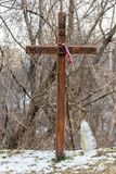 Pomnika krzyż Wladyslaw Dybiec znać jako Drabina przy kopem Warszawski powstanie zdjęcie stock