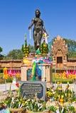 Pomnikowa Chamadevi królowa w Lumphun Zdjęcie Royalty Free