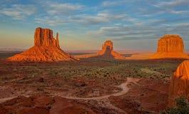 Pomnikowa dolina, Arizona stan, Stany Zjednoczone Zdjęcie Stock