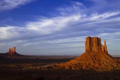 Pomnikowa dolina przy półmrokiem Obraz Royalty Free