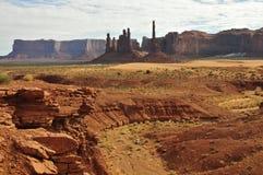 Pomnikowa dolina: Totemów słupy Zdjęcia Royalty Free