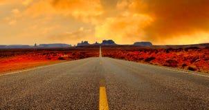 pomnikowa droga dolina Zdjęcia Royalty Free