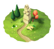 Pomnikowa ilustracja Obraz Royalty Free