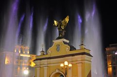 Pomnikowa Lyadsky brama na niezależność kwadracie w Kijów Obraz Royalty Free