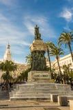 Pomnikowa statua Cadiz polityk Segismundo Moret rzeźbiarzem agustÃn Querol i Subirats budował wewnątrz zdjęcia stock
