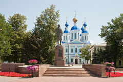 Pomnikowa Zoya Kosmodemyanskaya i Kazan katedra Zdjęcia Royalty Free