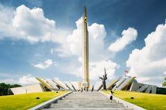 Pomnikowego Pobliskiego budynku Białoruski muzeum Wielki Patriotyczny Zdjęcie Stock