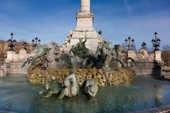 Pomnikowi aux girondins, bordowie Obraz Stock