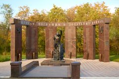 Pomnikowi Saratov mieszkanowie które umierali w lokalnych wojnach Fotografia Royalty Free