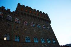 Pomnikowy budynek w piazza della signoria, centrum miasto Florence obrazy royalty free