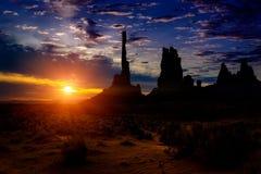 Pomnikowy dolina krajobraz przy wschodem słońca obrazy royalty free
