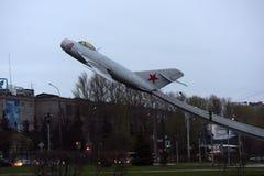 Pomnikowy MiG-17 samolot Obrazy Royalty Free