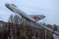Pomnikowy MiG-17 samolot Zdjęcia Stock