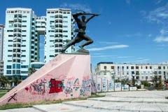 Pomnikowy Niewiadomy żołnierz w Durres Albania Obrazy Stock