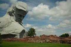Pomnikowy ` odwaga ` w Brest fortecy Obraz Royalty Free