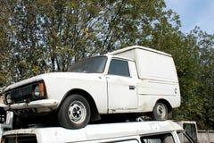 Pomnikowy stary samochód fotografia stock