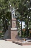 Pomnikowy Zwycięski wojownik na bulwarze miasto Gelendzhik, Krasnodar region, Rosja Fotografia Stock