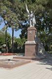 Pomnikowy Zwycięski wojownik na bulwarze miasto Gelendzhik, Krasnodar region, Rosja Fotografia Royalty Free