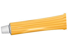 Pomoamarillo. 3D illustration of a toothpaste tube Royalty Free Stock Photography