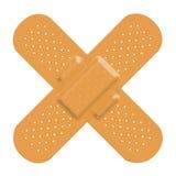Pomoc bandaża krzyż fotografia stock