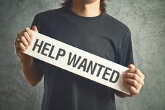 Pomoc chcieć. Przypadkowy mężczyzna pyta dla pomocy. Fotografia Royalty Free