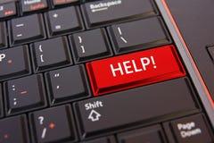 Pomoc klucz na klawiaturze Zdjęcie Stock