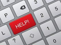 pomoc klucza klawiatura Fotografia Stock
