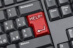 Pomoc klucza Komputerowa klawiatura Zdjęcie Royalty Free