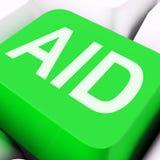Pomoc klucza przedstawień pomocy pomoc Lub asysta Obrazy Stock