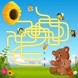 Pomoc niedźwiedzia znaleziska ścieżka ul royalty ilustracja