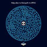 Pomoc obcy znajdować ścieżkę UFO ilustracja wektor