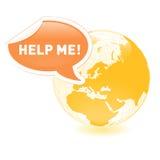 pomoc planeta ilustracja wektor