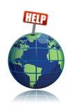 pomoc planeta save Fotografia Stock