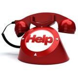 Pomoc telefon Obrazy Royalty Free