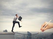Pomoc w twój biznesowej karierze obrazy stock