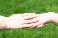 Pomocna dłoń zdjęcie stock