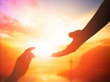 Pomocnej dłoni pojęcie i zawody międzynarodowi dzień pokój zdjęcia stock