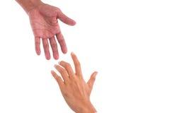 Pomocnej dłoni poparcia ludzie dla pracy zespołowej obrazy royalty free