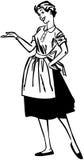 Pomocniczo gospodyni domowa ilustracji