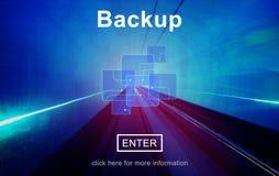 Pomocniczy przechowywania danych przywrócić bazy danych pojęcie Zdjęcie Stock