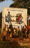 Pomocy świadomości billboard, Rwanda. Obrazy Royalty Free